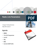 IP-20G Radio Link Parameters