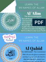 RLM 99 Names of Allah Countdown 21 40
