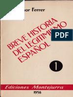 Breve historia del legitimismo español - Melchor Ferrer