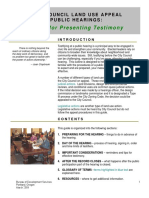 Portland City Council Testimony