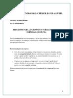 Requisitos Creacion de Empresa