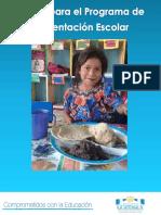 Menús Para El Programa de Alimentación Escolar