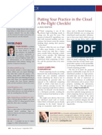 Putting Your Practice in the Cloud - A Preflight Checklist