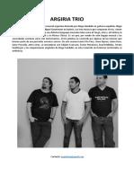 Argiria Trío release español