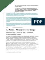 El Municipio de La Asunta
