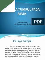 PPT Referat Trauma Tumpul Mata Dr. Nanda