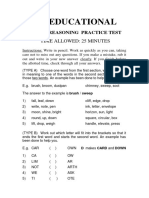 MW Educational Free Eleven Plus Practice Papers Verbal Reasoning