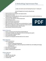 Project Management Methodology Improvement Plan