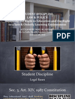 Student Discipline Law & Policy DLSU Copy