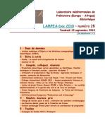 LAMPEA-Doc 2010 – numéro 28 / Vendredi 10 septembre 2010