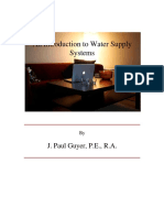 Introduction to Water Supply Systems