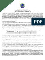 edital 001-2018 Cefet Prof. Substituto