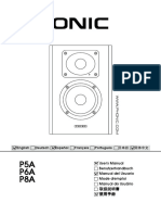 p5a p6a p8a User Manual Active Monitor Phonic Pa-8