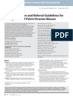 Initial Evaluation and Referral Guidelines for Management of PelvicOvarian Masses