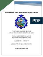 Analisis de La Pelicula, La Guerra Del Fuego