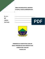 Lampiran Seleksi Administratif Bakal Calon Kepala Sekolah Tahun 2018
