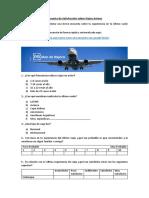 Modelo de Encuesta de Satisfacción Sobre Viajes Aéreos