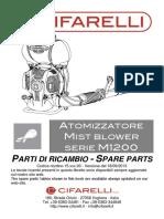 Partes y Piezas Atomizador m1200