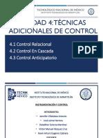 Unidad 4 Tecnicas Adicionales de Control