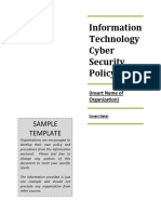Cyber Security _SOSSamplePolicy
