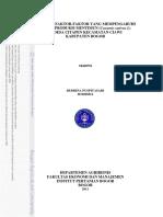 Analisis Faktor-faktor Yang Mempengaruhi Risiko Produksi Mentimun
