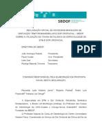 SBDOF Declaração Toxina Botulínica