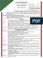 FICHA DE EMERGENCIA - Ácido Clorídrico - REV 14 09-13