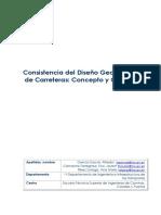 Consistencia Del Diseño Geométrico de Carreteras Concepto y Criterios 20130605