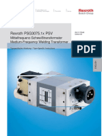 Rexroth Freq Weld Transformer PSG 3075.1x PSV