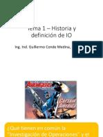 Tema 1 - Historia y Definición de IO