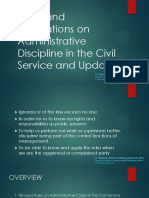 Rules and Regulations on Administrative Discipline in the Civil Service and Updates