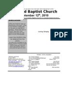 September 12 2010 Bulletin in Word