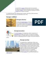 Clases de Energía