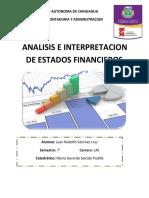 aif análisis e interpretación de estados financieros