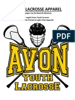 Avon Lacrosse Apparel Catalog 2018