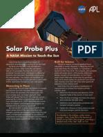 Solar Probe Plus Factsheet