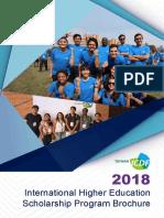 2018 TaiwanICDF Scholarship Brochure