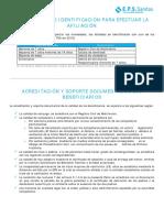 Documentos Para La Afiliacion 2018