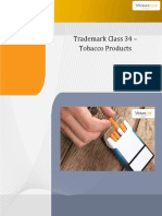 Trademark Class 34 Tobacco Products