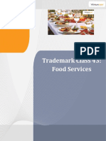 Trademark Class 43 Food Services