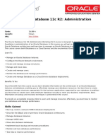 Oracle Database 12c r2 Administration Workshop Ed 3