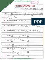 Trigonometry Cgl Maths Notes