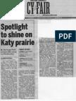 Spotlight to shine on Katy prairie