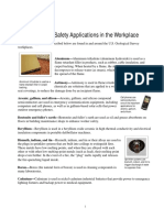 USGS Minerals Use in Safety Applications in the Workplace