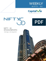 Nifty 50 Reports for the Week(13th - 17th September '10)