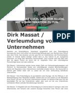 Dirk Massat. Verleumdung von Unternehmen