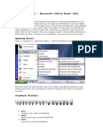 Tutorial – Microsoft Office Excel 2003