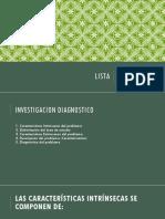 Lista de puntos de metodologia