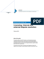Dispute Resolution ASIC