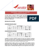 Notification Air India Cabin Crew Posts